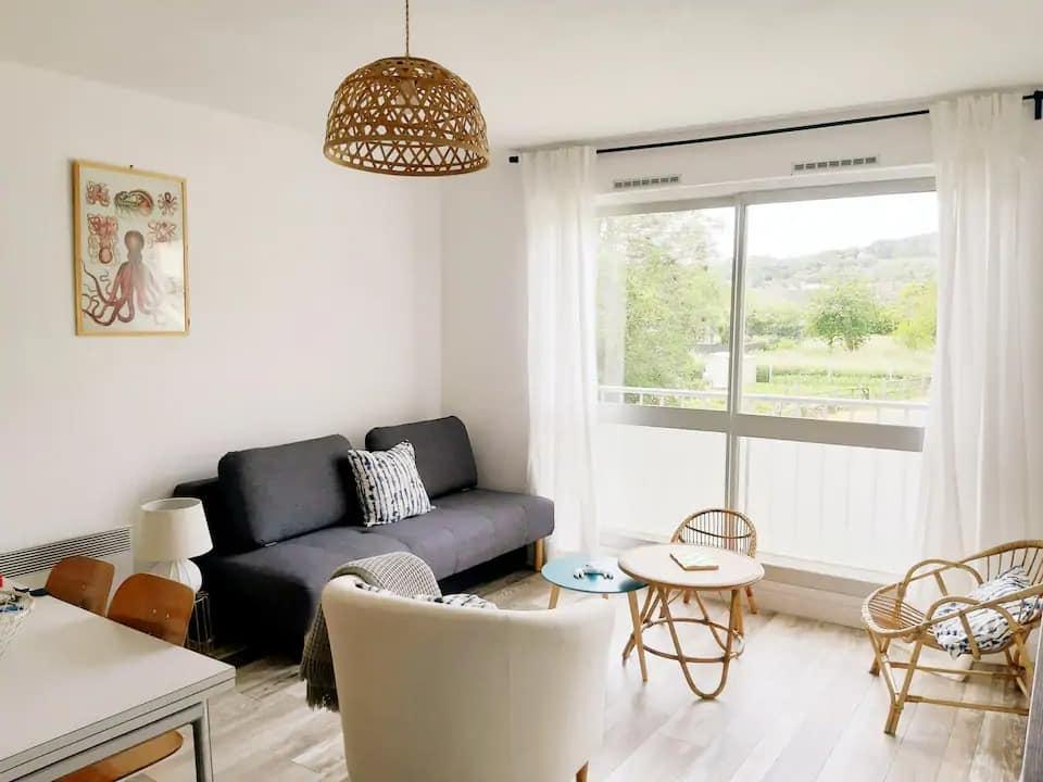 Les Ondines: Charmant appartement à Houlgate - Airbnb Houlgate