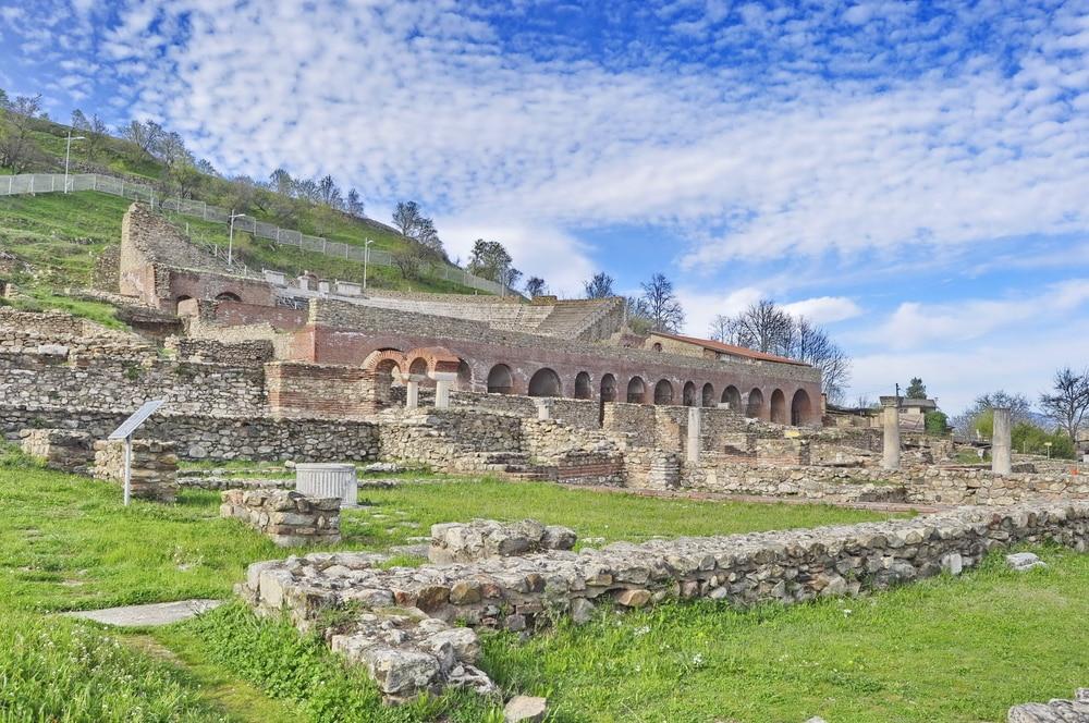 Les ruines d'Heraclea, à Bitola