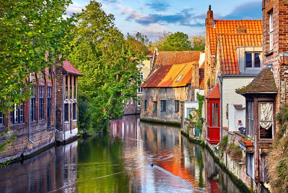Maisons médiévales à Bruges
