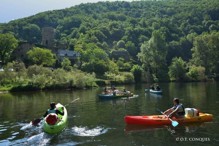 Faire du kayak à Conques