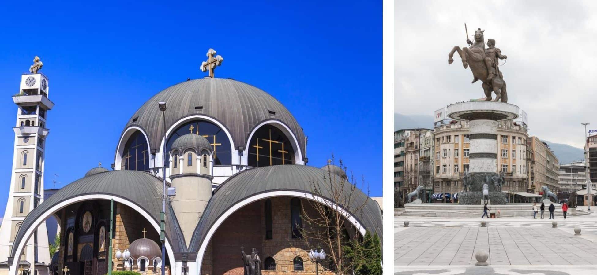 Les monuments modernes de Skopje