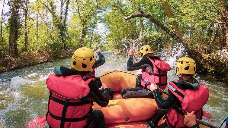 Rafting sur la rivière du Golo, Corse