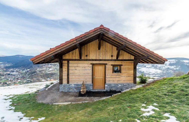 Aux K'huttes« le Nordic »avec bain scandinave.