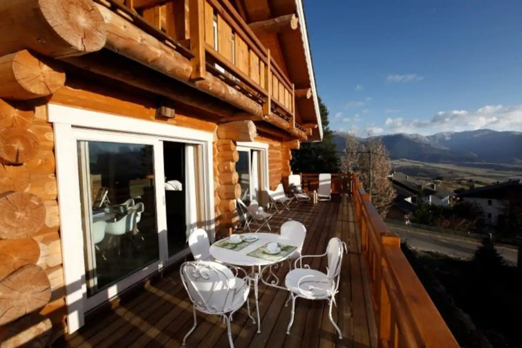 Grand chalet de luxe nordique avec Sauna et Balneo
