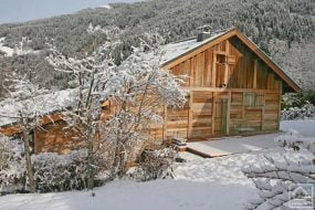 Traditional mountain chalet in Les Contamines