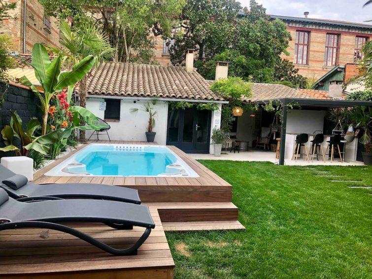 Charmante maison de ville avec jardin spa de nage