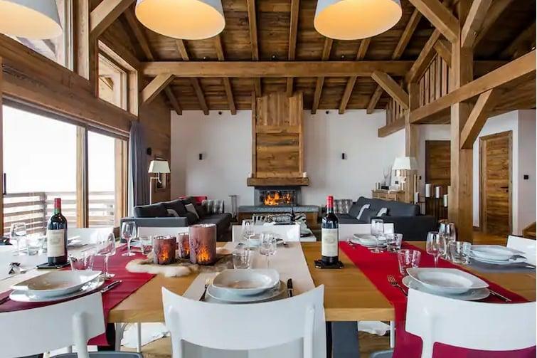 airbnb Contamines-Montjoie - Grand chalet d'exception à flanc de montagne
