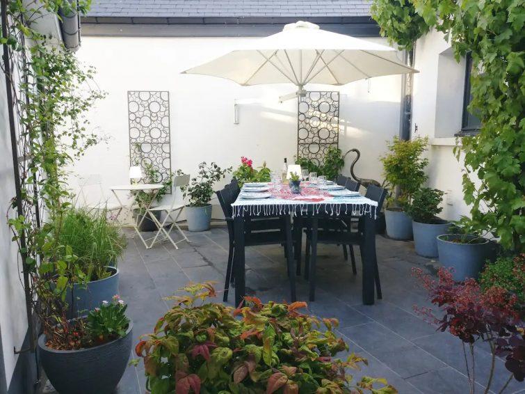 airbnb baie de somme - Maison en ville médiévale avec patio