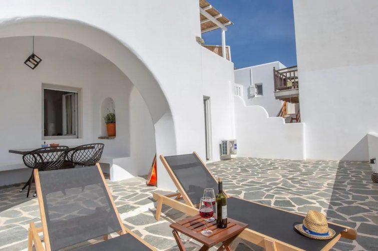 Sea view apartment, with big veranda and hot tub