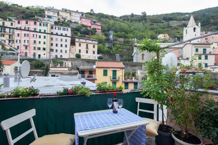 Balcon et mer à Corniglia