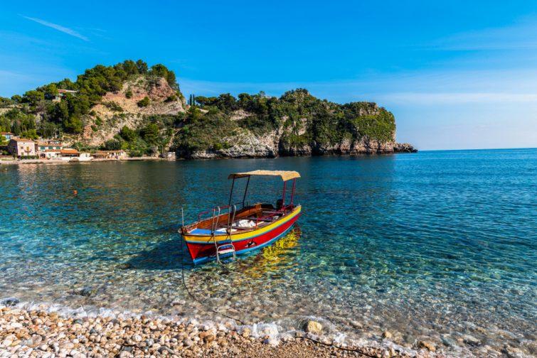 Balade en bateau, Sicile