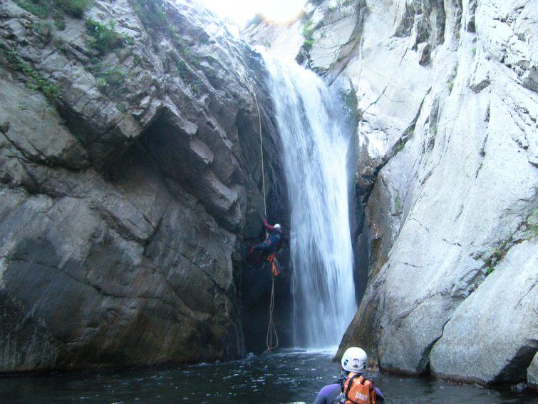 Canyoning, descente du Llech