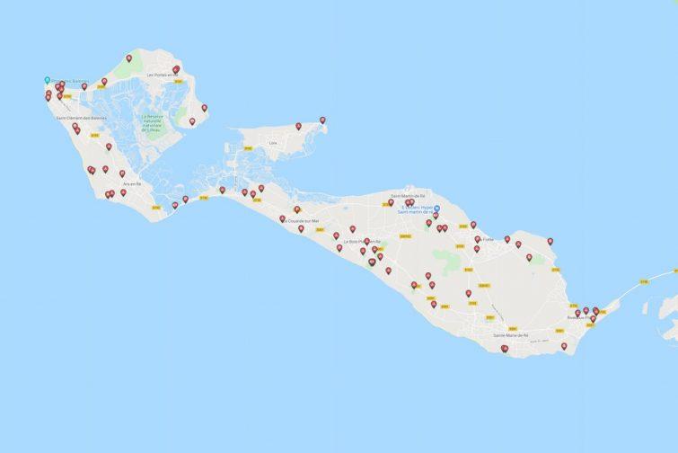 Carte Caramaps de l'Île de Ré