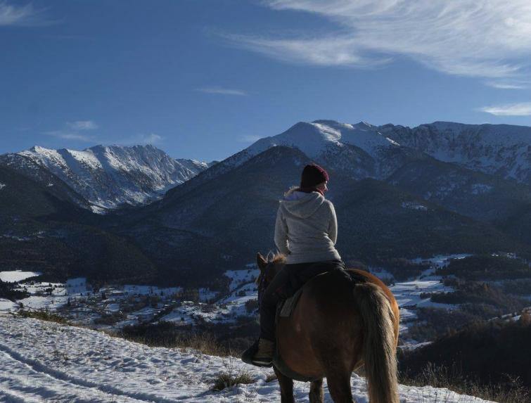 Balade à cheval dans les Pyrénées Catalanes