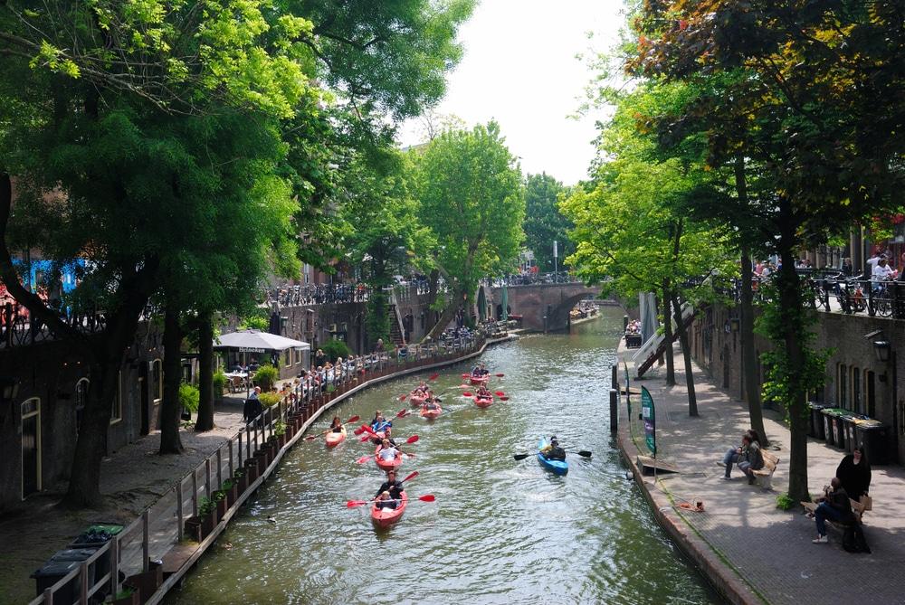 Idées reçues Pays-Bas : Faire du kayak à Utrecht