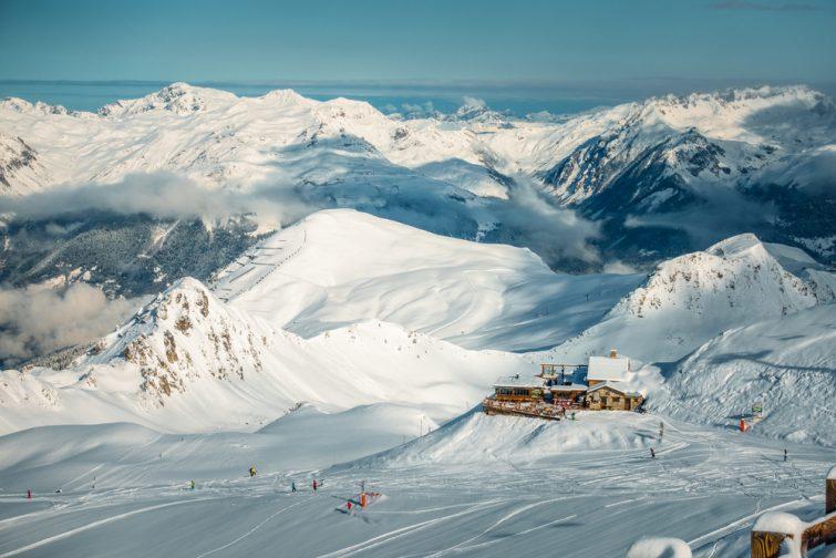 La station de ski La Plagne vu de haut