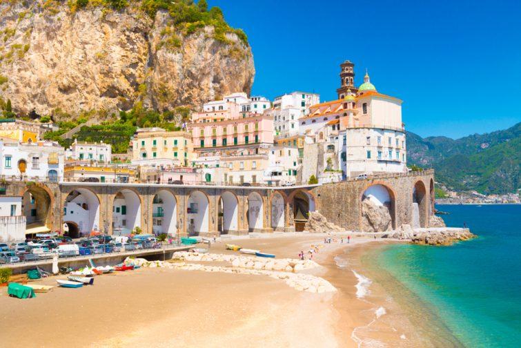 Plage d'Atrani, Amalfi