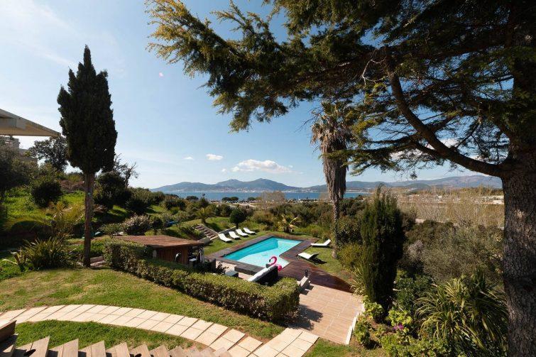 Porticcio centre: vue mer, piscine privée chauffée