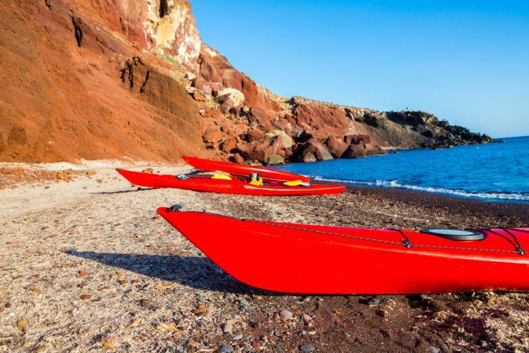 Kayak à Santorin