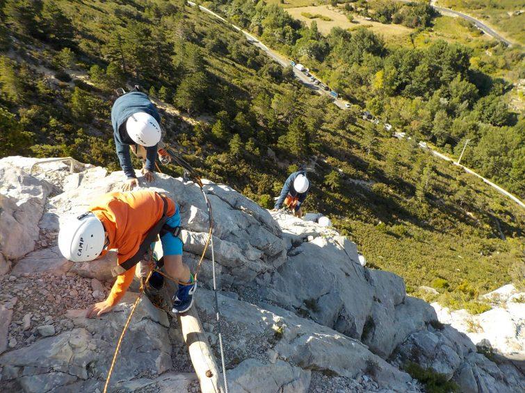 Viaferrata dans les Pyrénées catalanes
