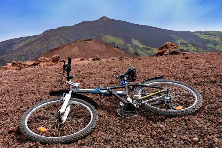 Monter l'Etna en VTT