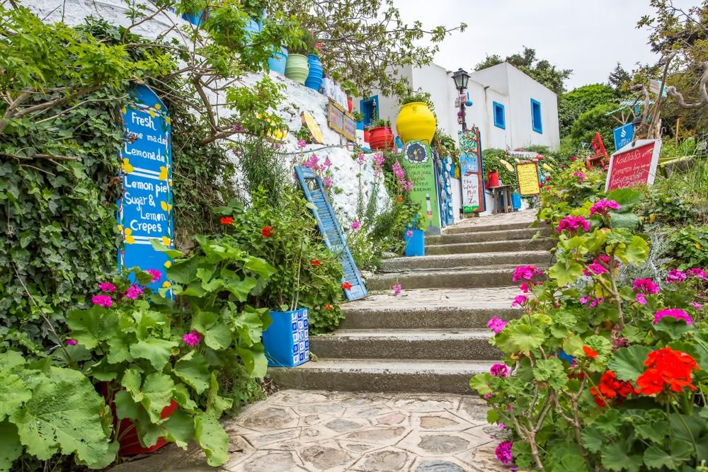 Petites rues dans Zia, Grèce