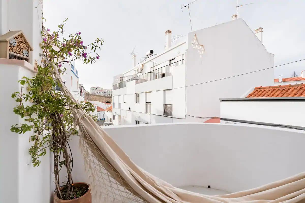 Walk Down Ancient Streets into a Modern Home with Balcony