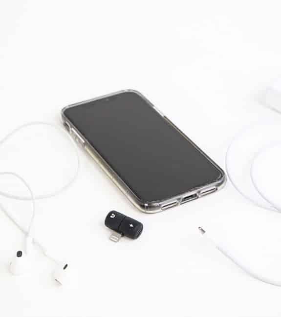 Mini adaptateur iPhone 2 en 1