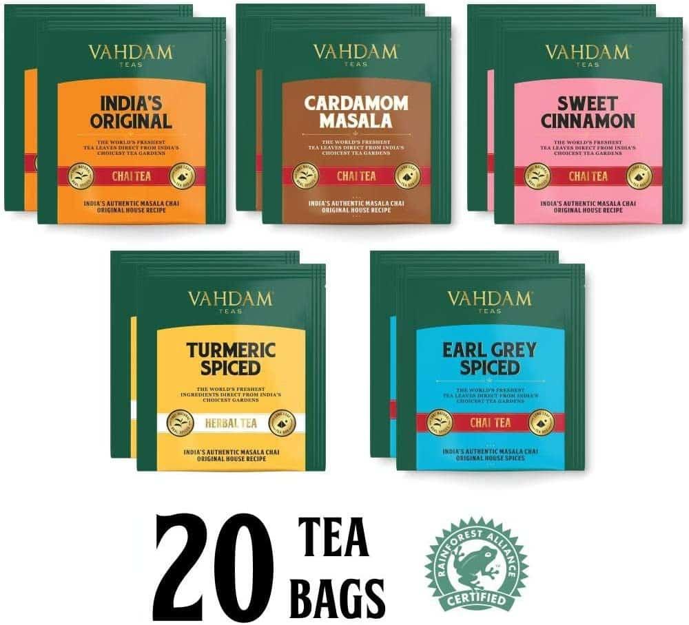 Un coffret d'assortiment de thés
