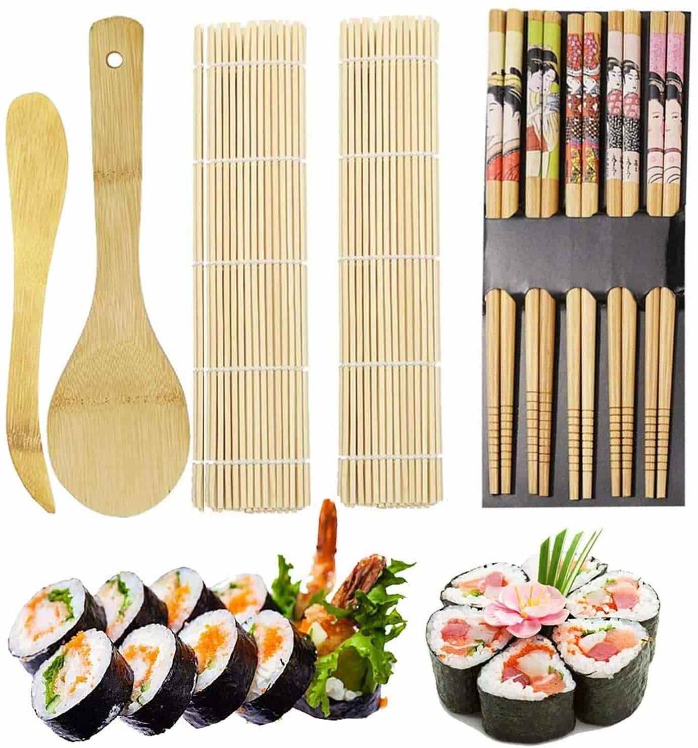 Un kit de fabrication de Sushis en bambou