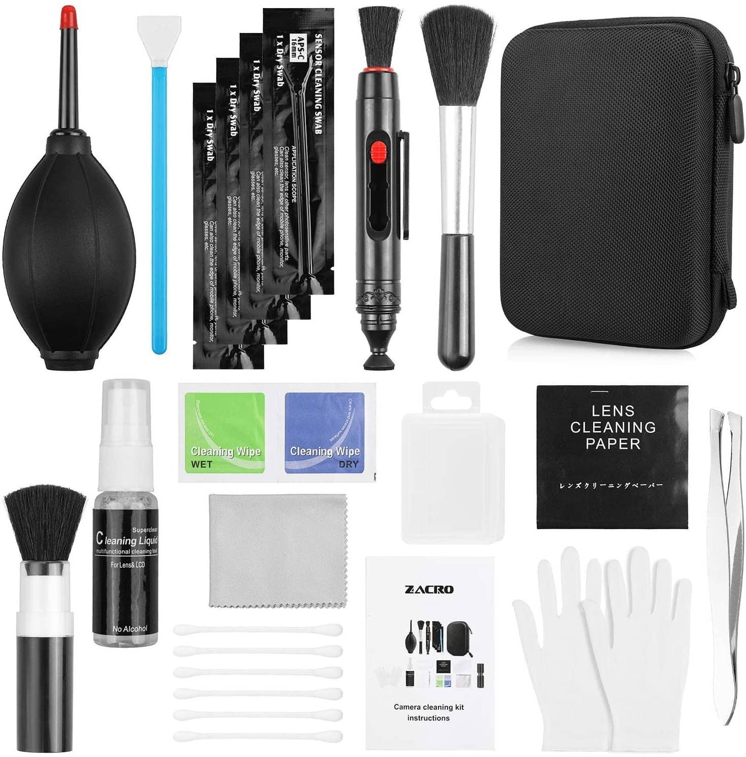 Un kit de nettoyage pour appareil photo