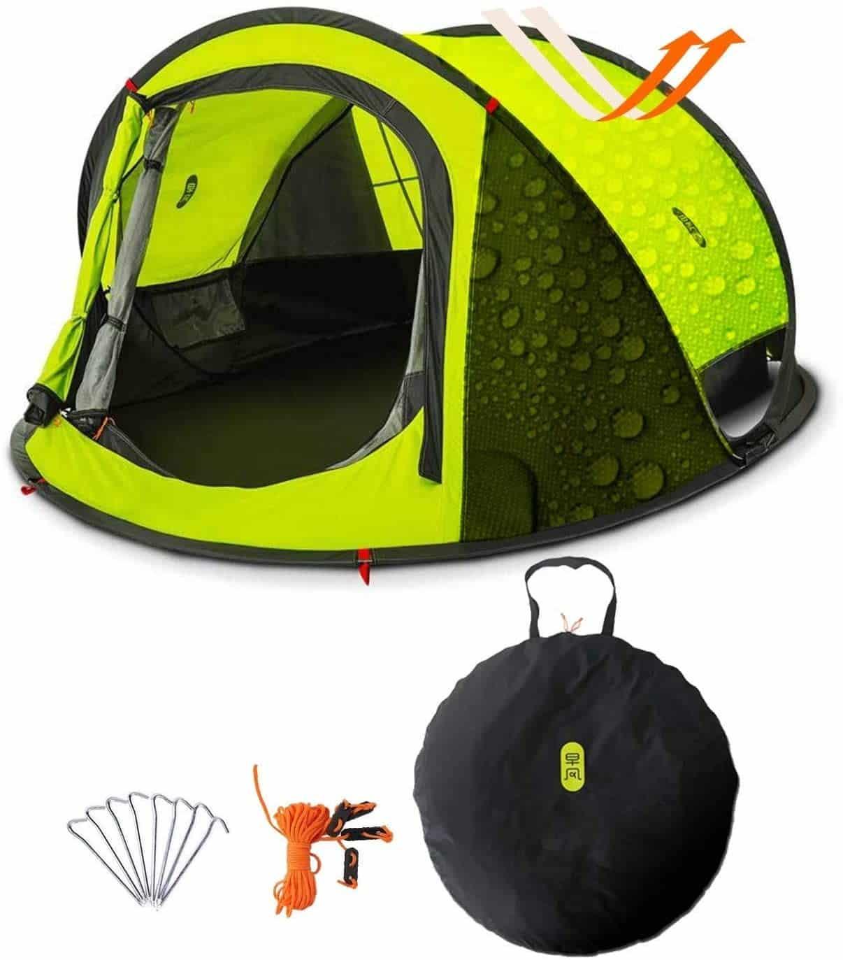 Une tente légère et instantanée