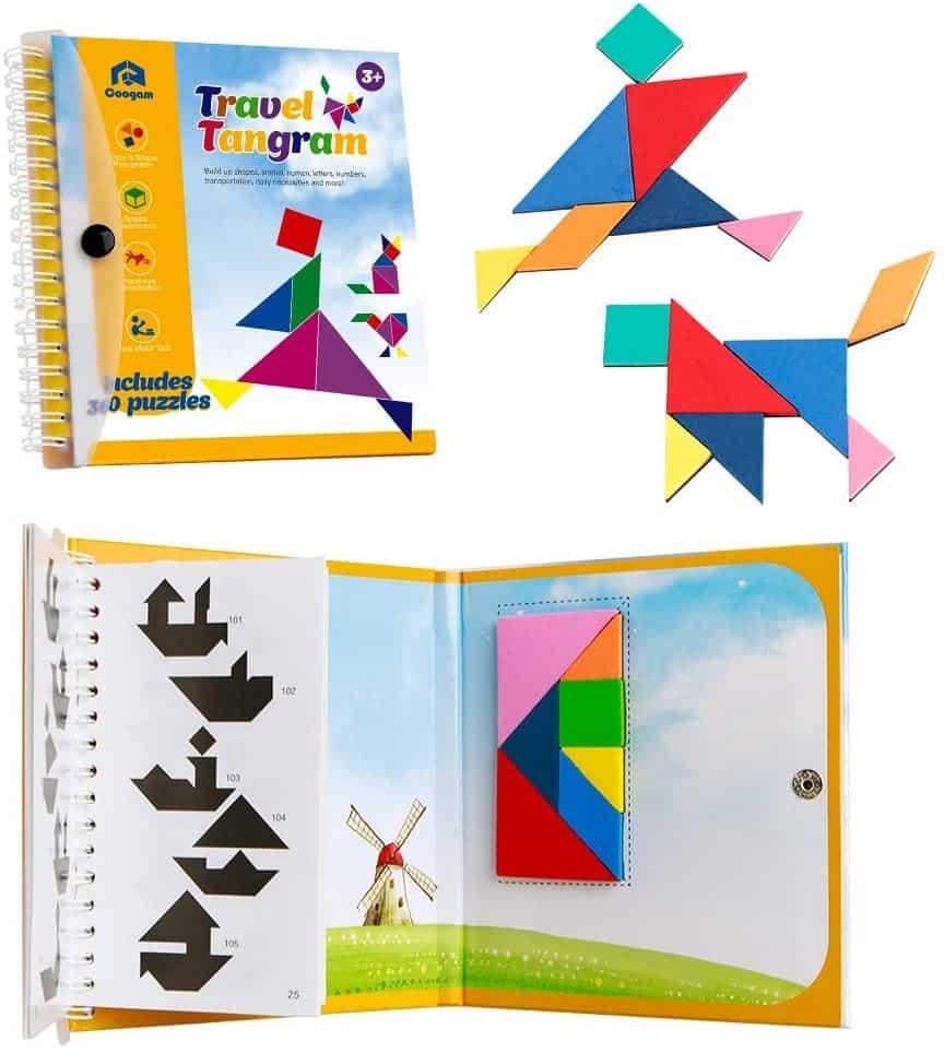 Un jeu tangram magnétique