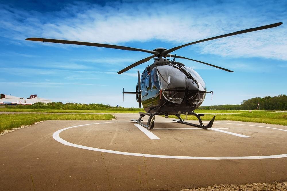 Un baptême en hélicoptère