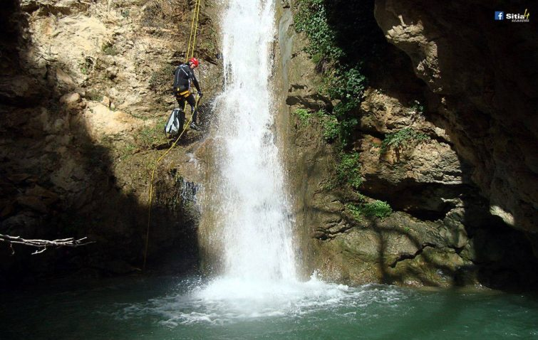Petinos Gorge at Lithines - canyoning crète