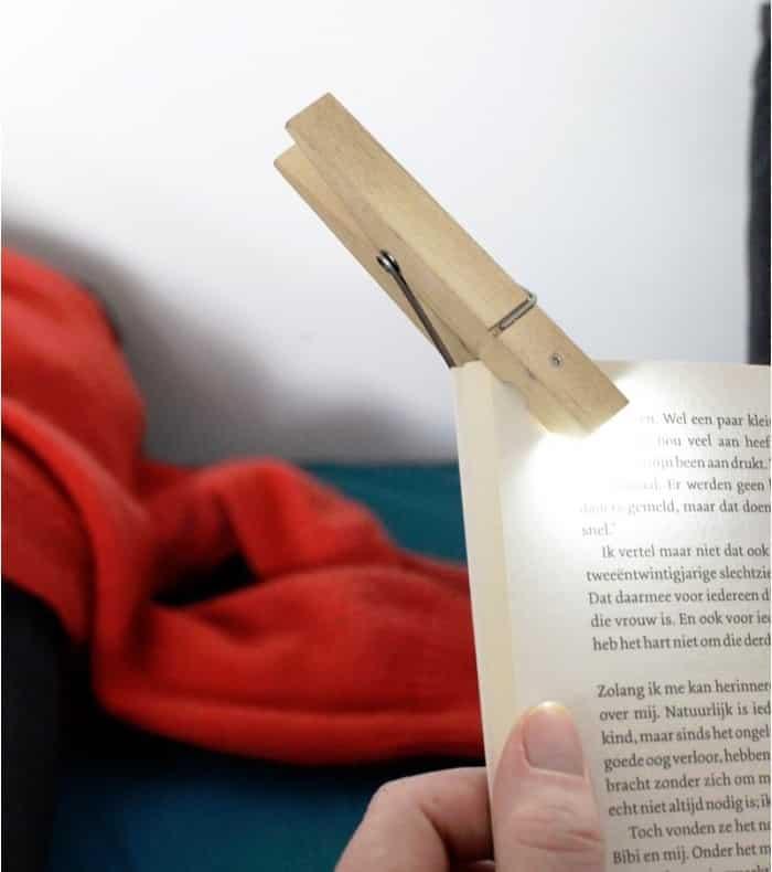 Lampe de lecture Pince à linge