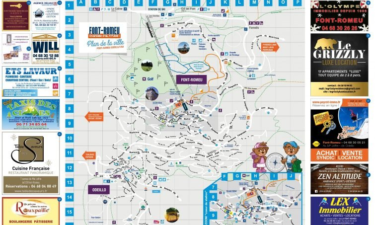 Carte Plan Font Romeu