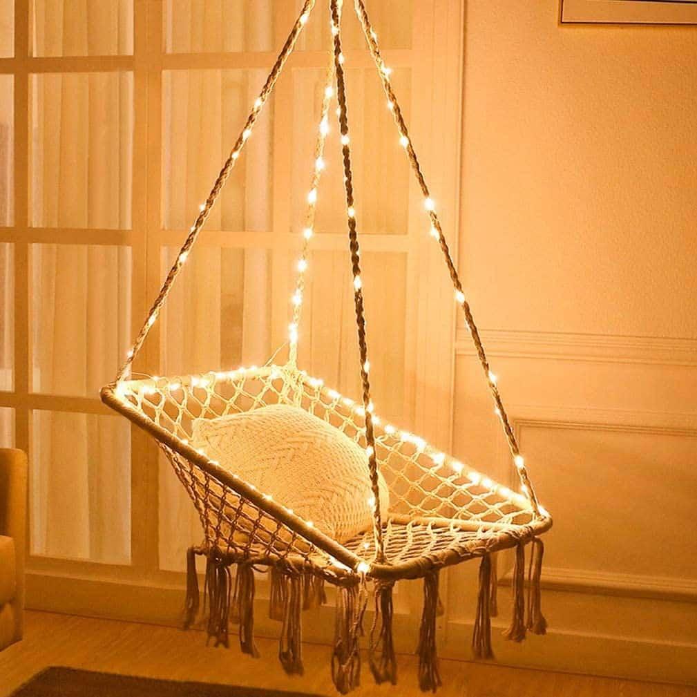 Une chaise hamac pour intérieur ou extérieur