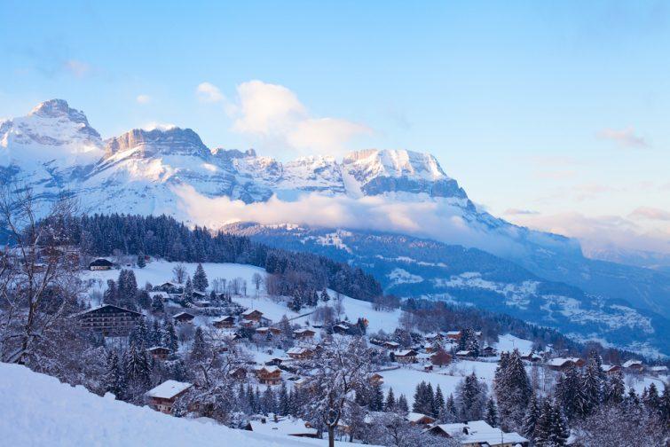 Vue sur la station de Combloux, Alpes