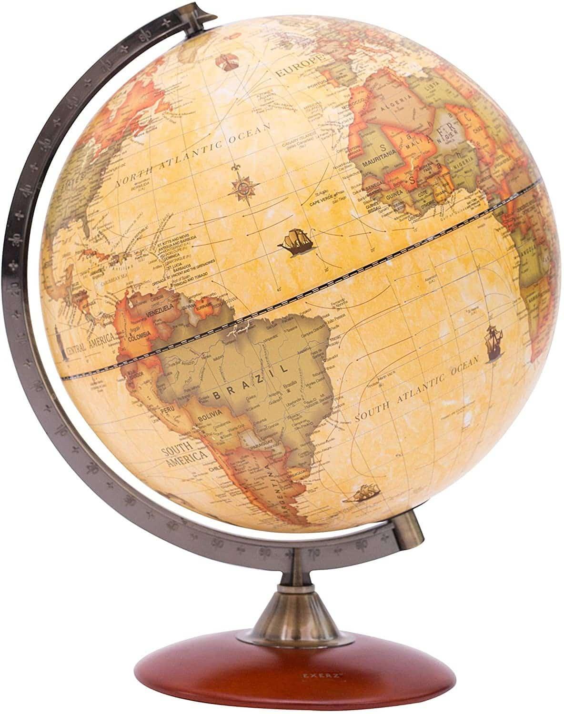 Le fameux globe terrestre antique