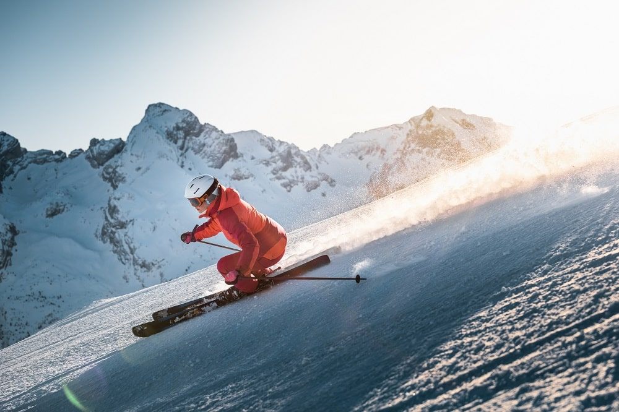 Skieuse au Grand-Bornand
