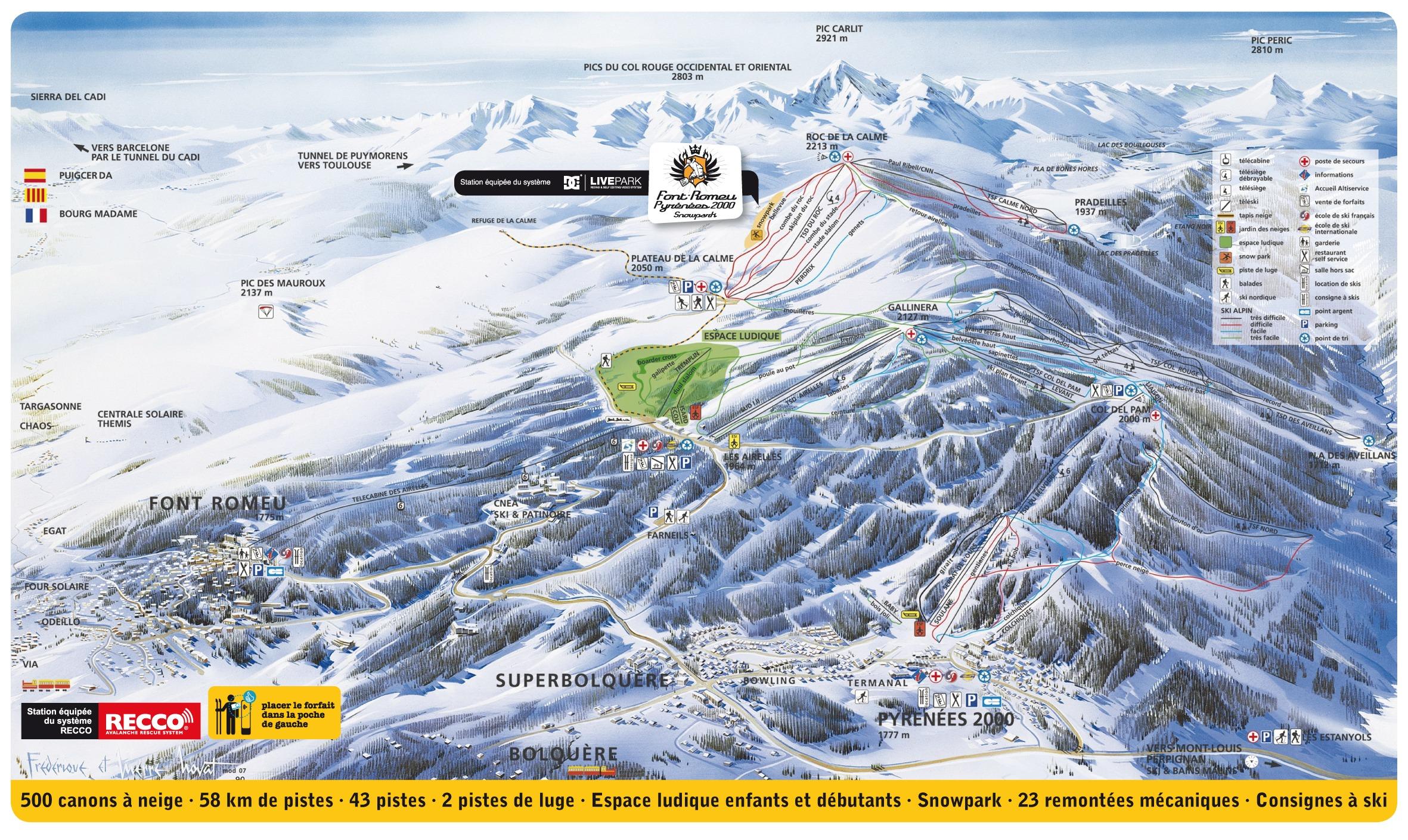 Plan des pistes alpin