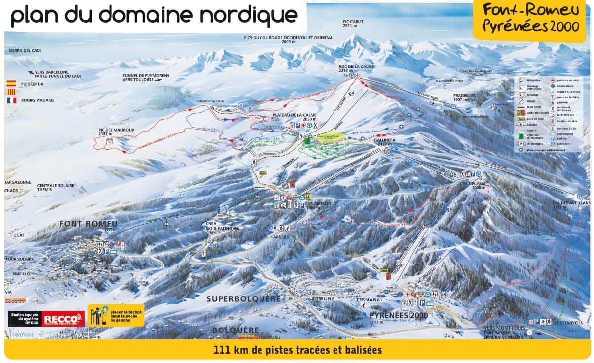 Plan des pistes nordique FRP2000
