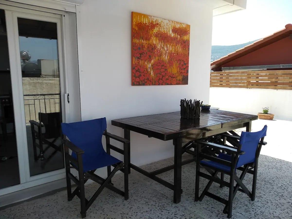 Vue unique sur la ville de Samos