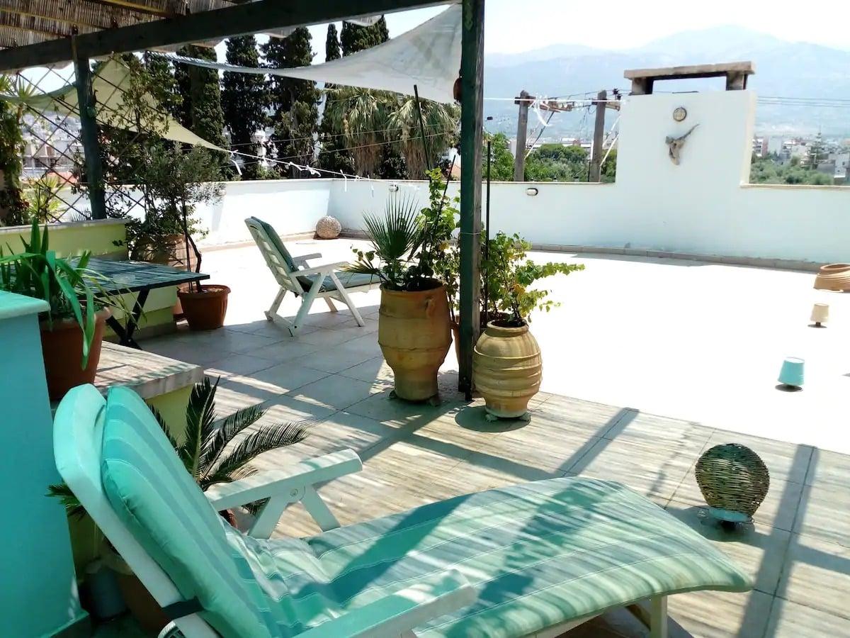 Appartement bleu Samos