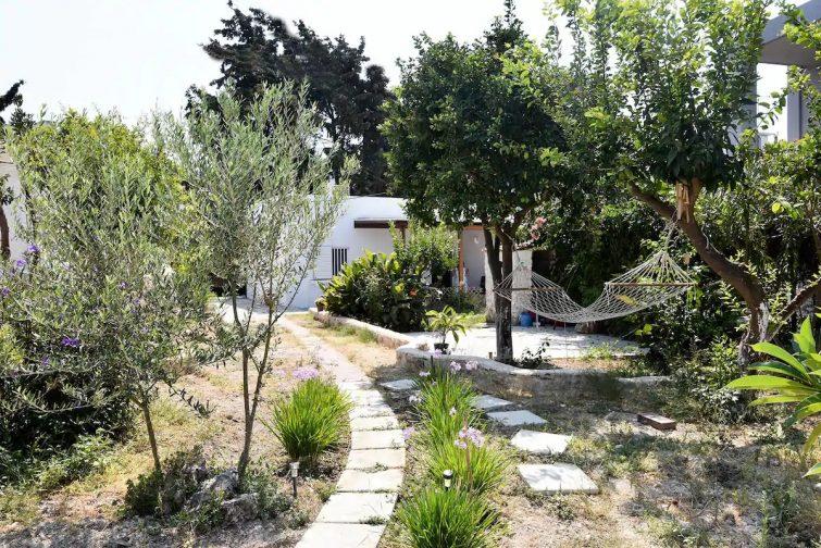 Airbnb à Kos : atelier dans un jardin d'oliviers