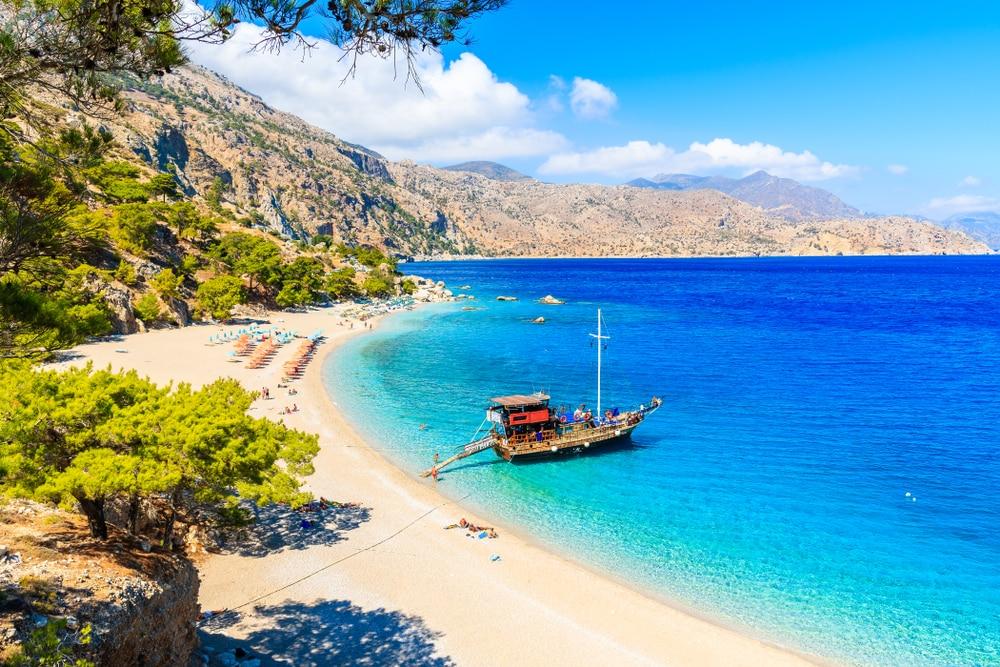 Une balade en bateau à Karpathos