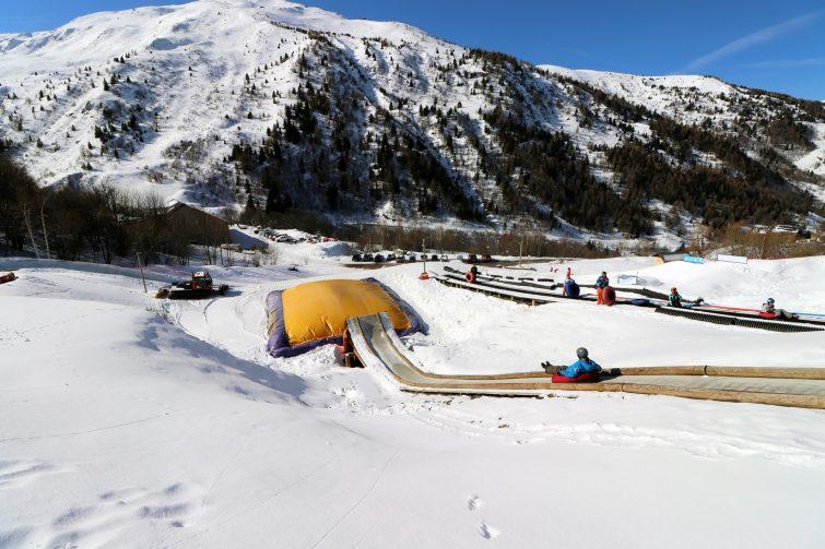 Snowtubing activité outdoor à Valmeinier