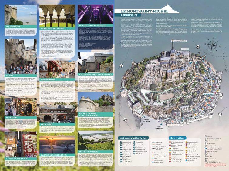 Carte détaillée du Mont Saint Michel