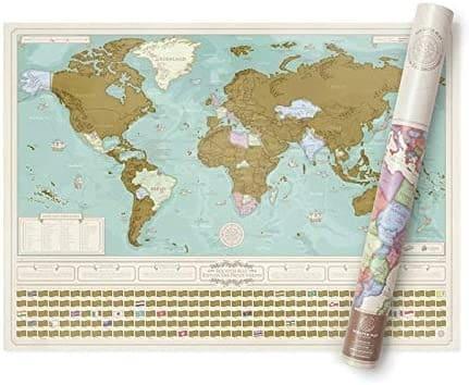 Une carte du monde à gratter